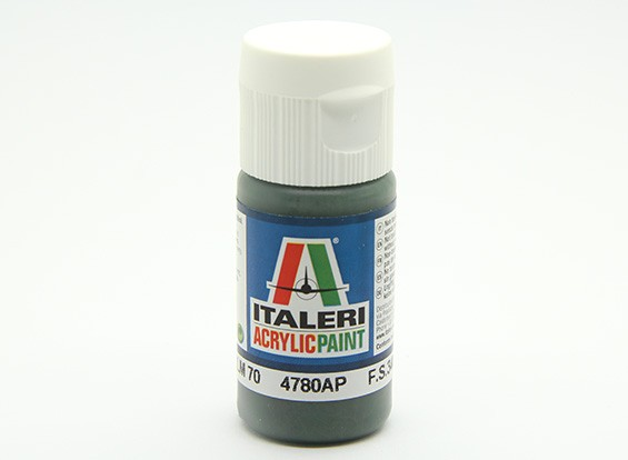 Italeri Акриловая краска - Schwarzgrun RLM 70