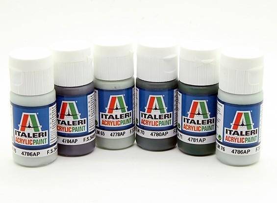 Italeri Акриловая краска Set (Flat) - Второй мировой войны Люфтваффе (6шт)