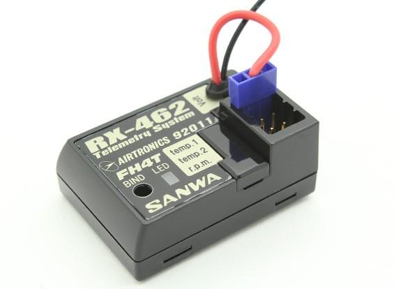 Sanwa / Airtronics RX-462 2,4 ГГц FHSS-4Т Супер Response 4CH телеметрический приемник