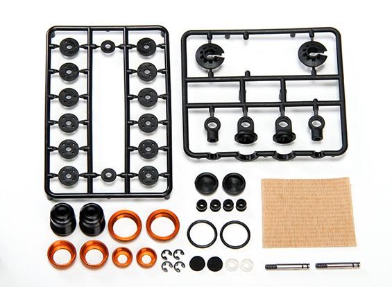 XRAY T4 2014 1/10 Touring Car - алюминиевый Амортизатор-Set - Orange (2) - T4