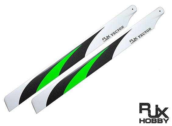 325мм RJX Вектор 3K углеродного волокна Flybarless Лопасти