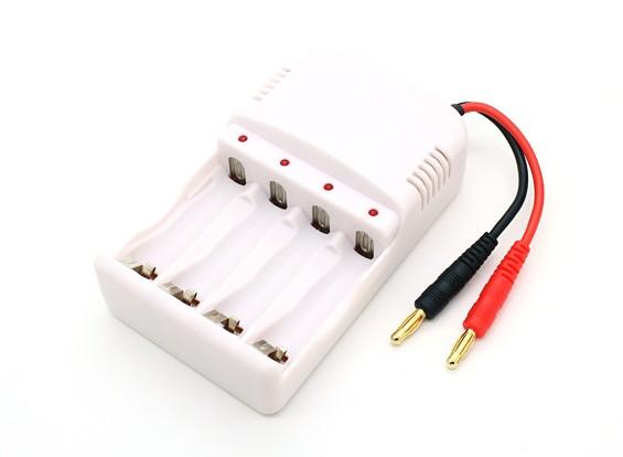 AA держатель ~ AAA NiMH батарея с 4мм Banana Lead штепсельной вилки зарядки