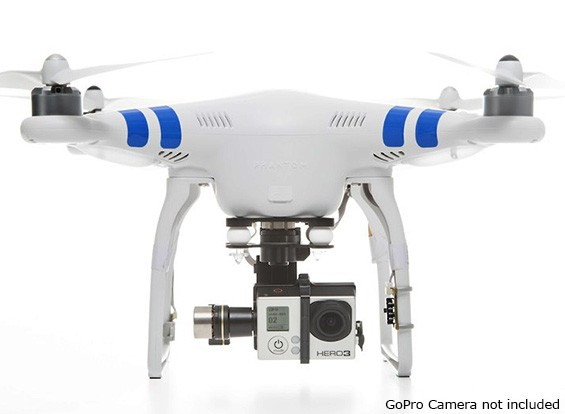 DJI Phantom 2 с Zenmuse H3-3D Gimbal, 2,4 ГГц радио и Intelligent Battery (Ready To Fly)