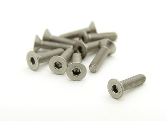 Титан M3 х 12 мм потайной шестигранной головкой (10pcs / мешок)