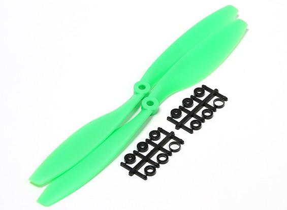 Turnigy Slowfly пропеллер 10x4.5 Green (CW) (2 шт)