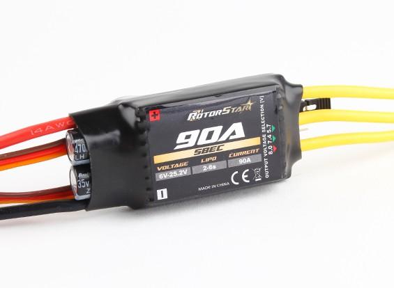 RotorStar 90А (2-6S) Бесщеточный контроллер скорости с возможностью выбора ЦМП