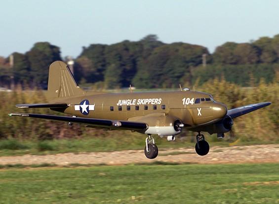 HobbyKing ™ C-47 Skytrain Военно-транспортная EPO 1600мм (ПНФ)