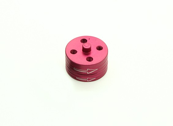 CNC алюминиевый Quick Release самозатягиванием Prop Адаптеры Set - красный (по часовой стрелке)