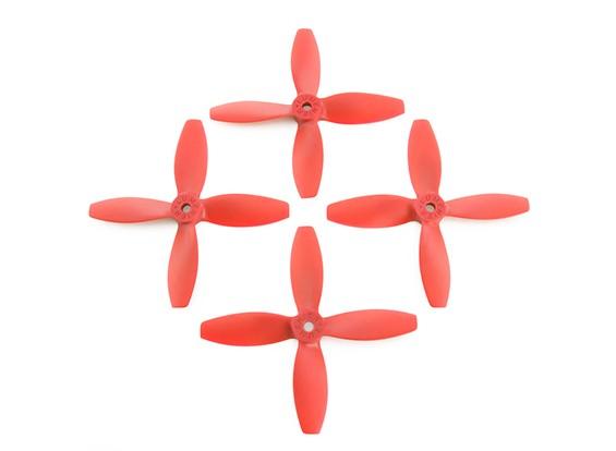 Lumenier FPV Гонки пропеллеры 4040 4-Blade Red (CW / CCW) (2 пары)