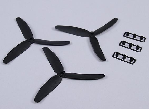 Hobbyking ™ 3-лопастной пропеллер 5x3 Black (CW) (3шт)