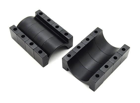 Черный анодированный CNC Алюминиевая пробка Зажим 22мм Диаметр (набор из 4)