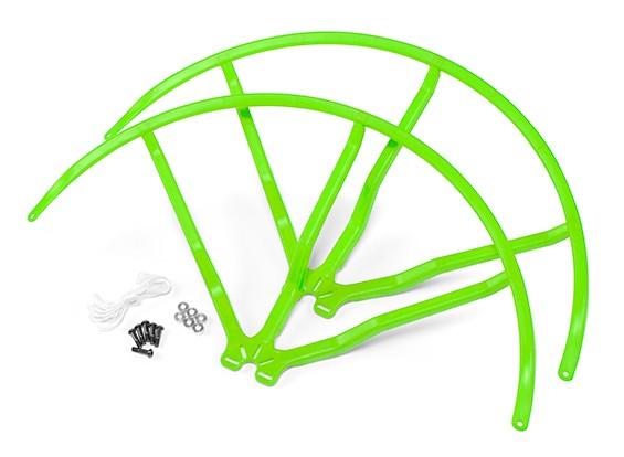 10-дюймовый пластиковый Универсальный Multi-Rotor Пропеллер Guard - зеленый (2set)