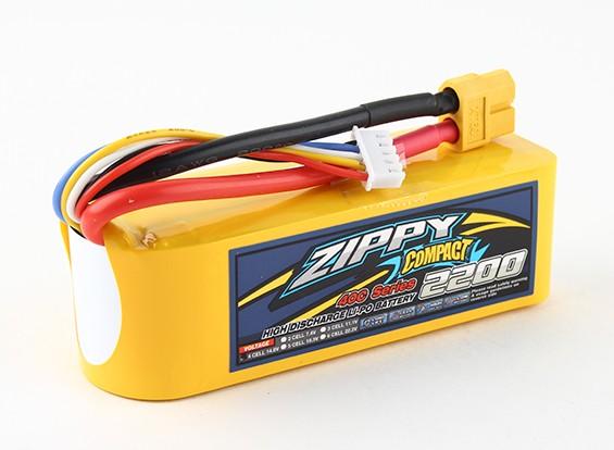 ZIPPY Компактный 2200mAh 4с 40c Lipo обновления
