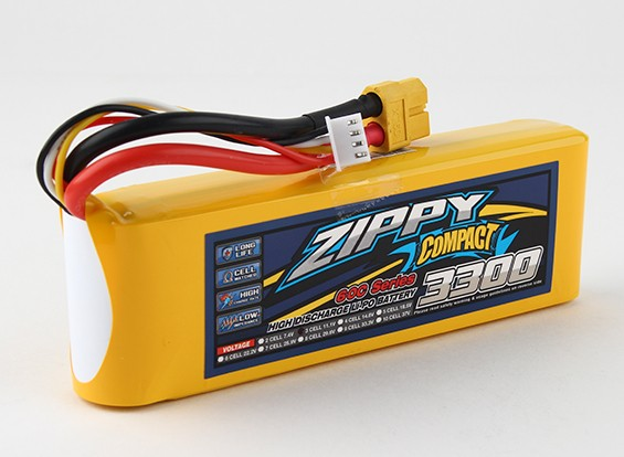 ZIPPY Компактный 3300mAh 3s 60c Lipo обновления