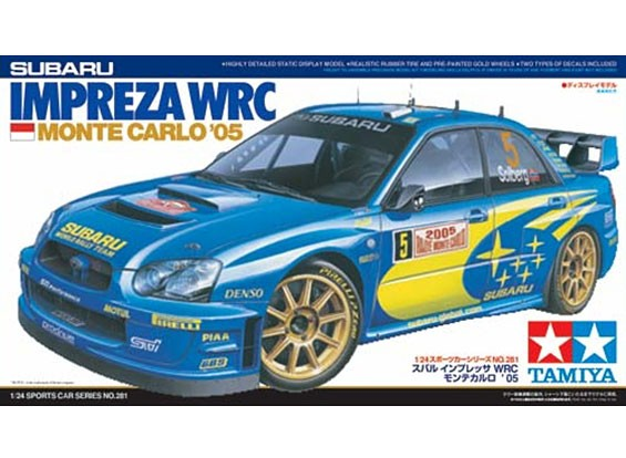Tamiya 1/24 Scale Impreza WRC Монте-Карло 05 Plastic Model Kit