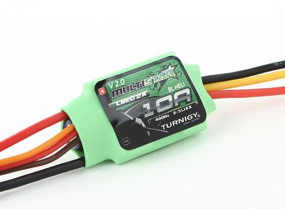 Turnigy Multistar 10A V2 ESC С BLHeli и 2A LBEC 2-3S V