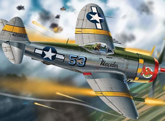 Italeri 1/48 Scale P-47 Thunderbolt Plastic Model Kit