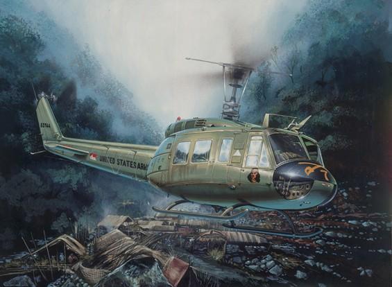 Italeri 1/48 шкала Bell UH-1D Slick Пластиковые Kit Модель