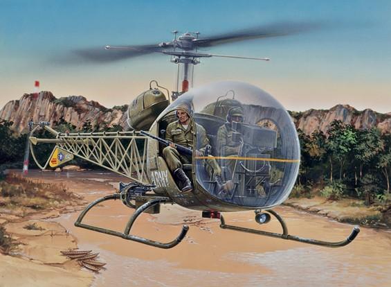 Italeri 1/48 Scale Bell OH-13S Sioux Plastic Model Kit