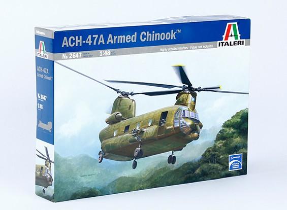 Italeri 1/48 Масштаб ACH-47E Вооруженный Chinook Plastic Model Kit