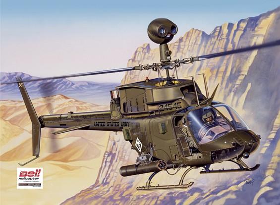 Italeri 1/48 Scale Bell OH-58D Kiowa Plastic Model Kit