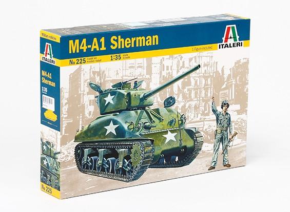 Italeri 1/35 Scale Sherman M4A1 Танк Пластиковые модели Model Kit