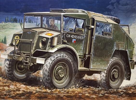 Italeri 1/35 Масштаб Chevrolet Gun Трактор Model Kit