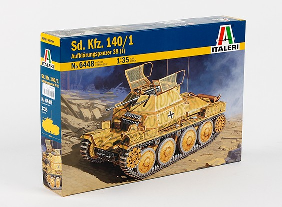 Italeri 1/35 Scale Sd. Kfz.140 / 1 Aufklarungsp.38 (T) Пластиковые Model Kit