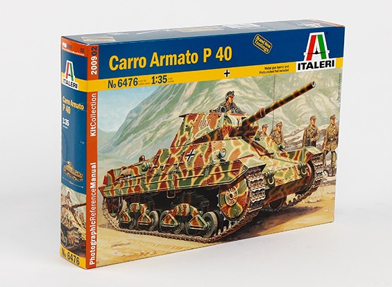 Italeri 1/35 Масштаб Карро Armato P40 Plastic Model Kit