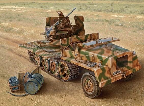 Italeri 1/35 Масштаб SWS С Flak 43 Plastic Model Kit