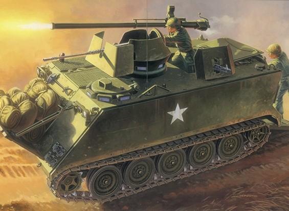 Italeri 1/35 Масштаб М-1 13 ACAV с 106mm Gun Plastic Model Kit