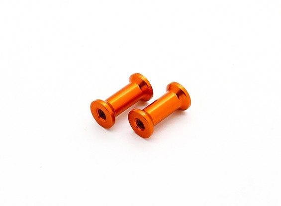 XRAY X12 1/12 Pancar '15 - Alu. Задний Brace Маунт 13мм - оранжевый (2 шт)