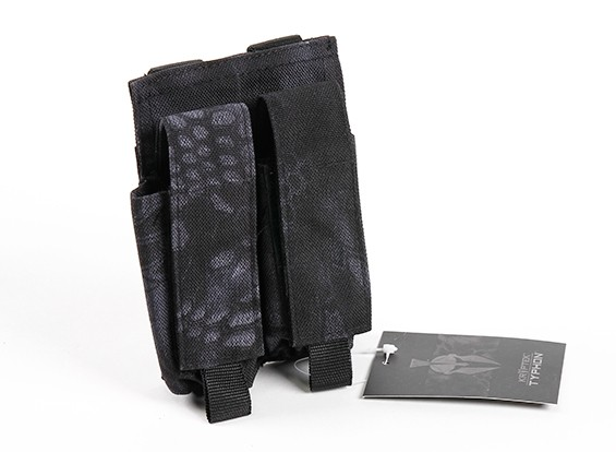 Спецназ 500D нейлон Молле Handgun Двойной Mag мешок (Kryptek Тифон)
