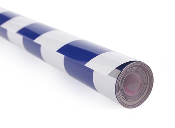 Покрывающей пленки Гриль-работа синий / белый (5mtr) 404