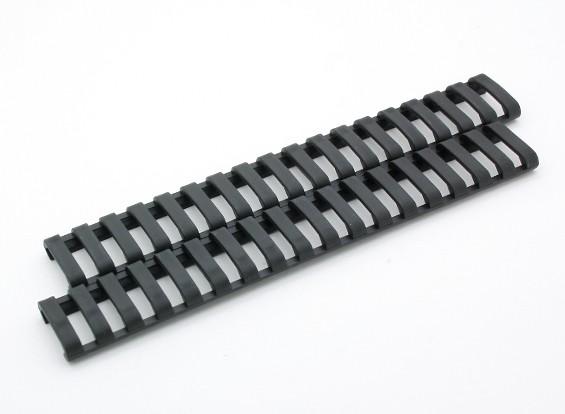Ergo 18 слотами LowProfile Ladder рельс крышки (2 шт / мешок, черный)