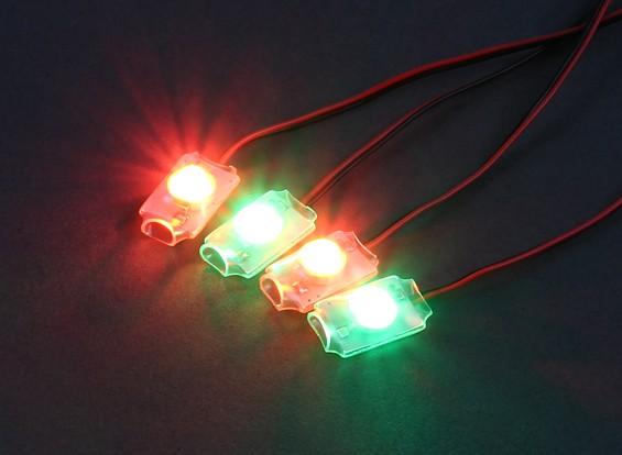 Turnigy Low Voltage Alarm - супер яркий светодиодный свет комплект (2 х красный / зеленый)