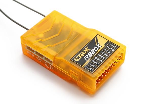 OrangeRx R820X 8Ch 2,4 DSM2 / DSMX CompFullRangeReceiver ж / SatDivAnt, F / S & CPPM