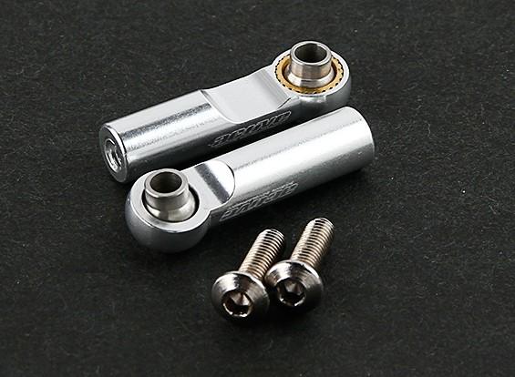 Активный Хобби Алюминий высокий угол поперечной рулевой тяги для типа C комплект для подвеса (серебро)