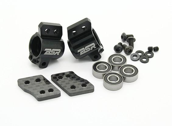 Опция Alu. 1 градус задней ступицы Комплект - BSR Гонки BZ-444 или BZ-444 Pro 4WD 1/10 Гонки Багги