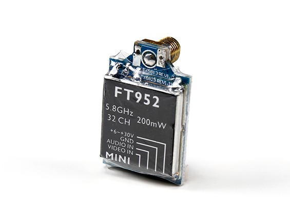 HobbyKing ™ FT952 5.8GHz 32ch 200mW Мини FPV передатчик с GoPro 3 AV Lead