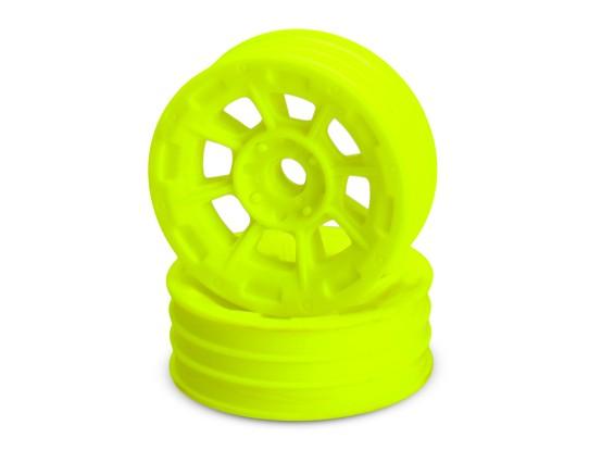 JCONCEPTS опасности 1/10-я Buggy передний колесный диск - желтый