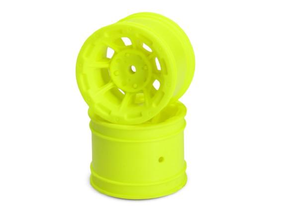 JCONCEPTS опасности 1/10-я кары Задний колесный диск - желтый