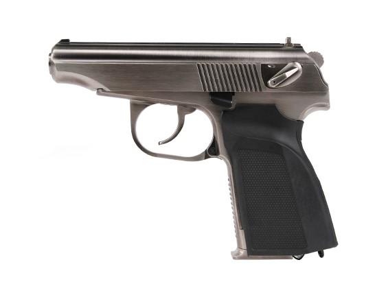 МЫ Mekarov 654K GBB пистолет (серебро)