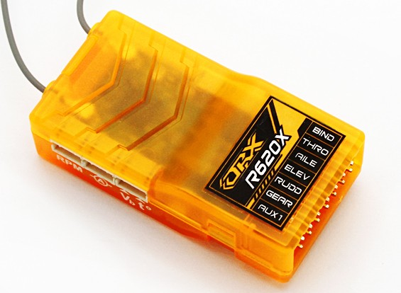OrangeRx R620X 6Ch 2,4 DSM2 / DSMX CompFullRangeRx ж / SatDivAnt, F / Safe & S.Bus