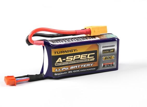 Turnigy нано-технологий A-SPEC G2 850mAh 3S 60 ~ 90C Lipo обновления