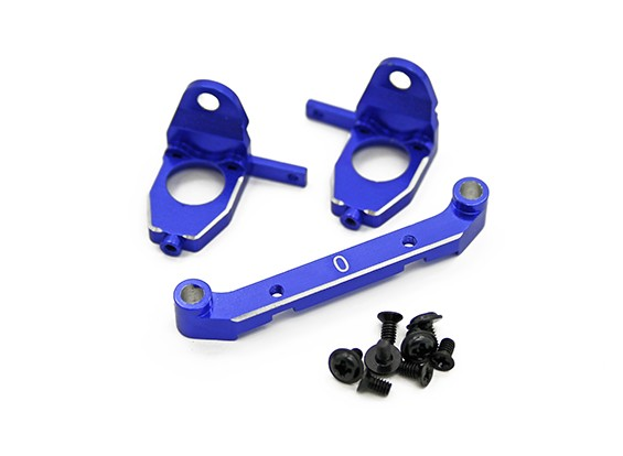 Алюминий Задний Коробка передач Комплект ж / Удобная система управления Toe (0 ° пальца ноги) - Turnigy TZ4 AWD / Drift Spec