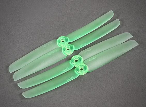 Призрак 6030 Зеленый пропеллеры для ночных полетов светодиодной подсветкой Набор из 4 (CW / CCW)