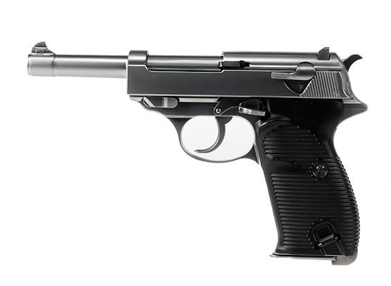 МЫ P38 Классический пистолет с коробкой светодиодного дисплея (серебро)
