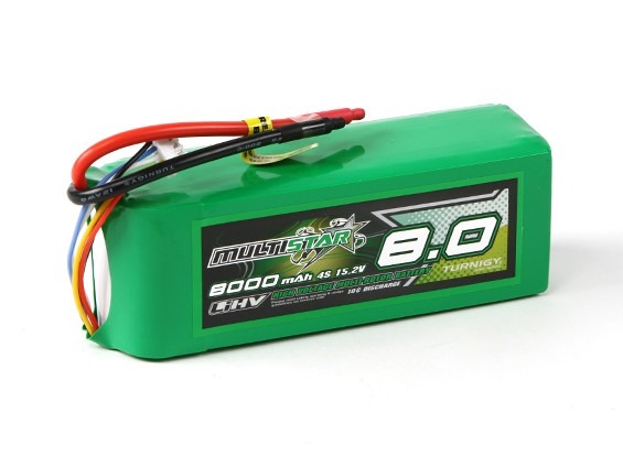 MultiStar LiHV High Capacity 8000mAh 4S 10C Multi-Rotor Lipo Pack