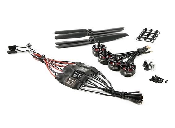LDPOWER D250-2 Multicopter Система питания 2206-1900kv (6 х 3) (4 шт)